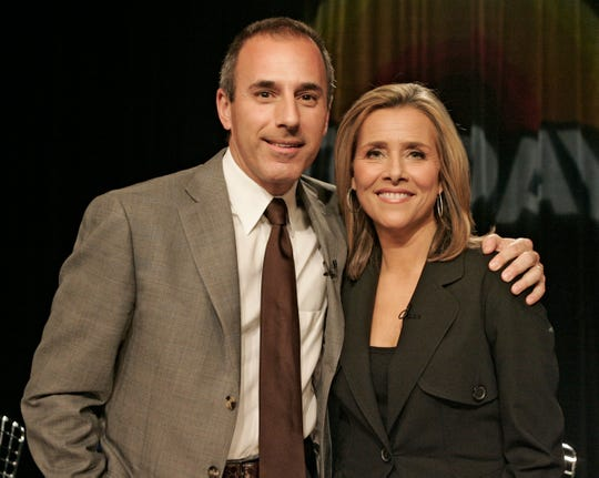 """Today"" co-hosts Matt Lauer and Meredith Vieira were like ""brother and sister."""
