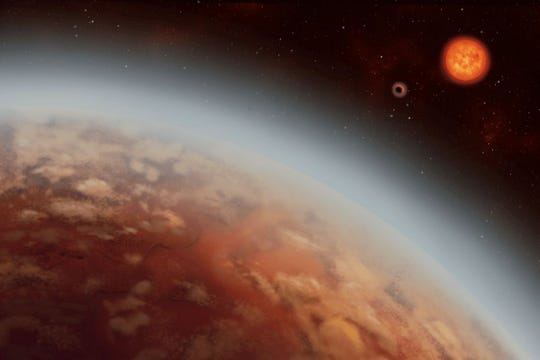 An artist's conception of the exoplanet K2-18b.