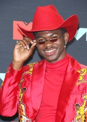 Rapper Lil Nas X in the press room of the MTV Video Music Awards on Aug. 26, 2019 in Newark, New Jersey.