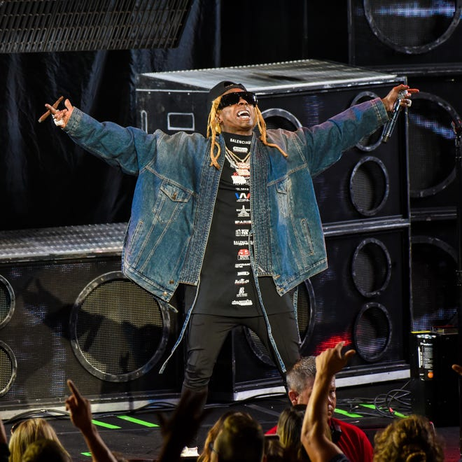 Lil Wayne performs onstage at DTE Energy Music Theater on September 10, 2019 in Clarkston, Michigan.