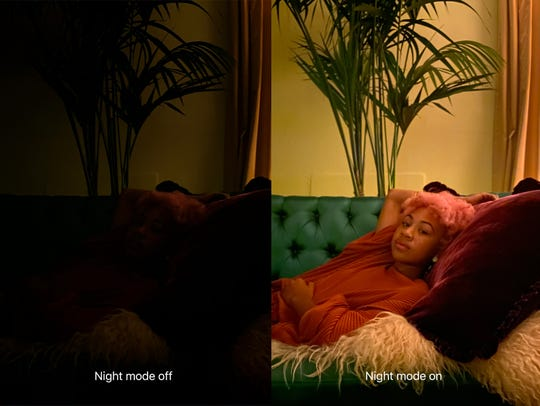 Catching up to other smartphone makers, Apple's Night mode dramatically improves the quality of photos in dimly-lit environments.