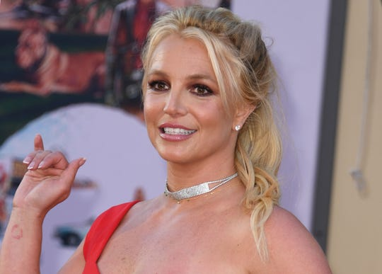"Britney Spears at the premiere of ""Once Upon A Time in Hollywood"" on July 22."