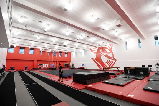 Gymnastics practice room at the RWJ Barnabas Athletic Performance Center at Rutgers University in Piscataway on Thursday, September 12, 2019.