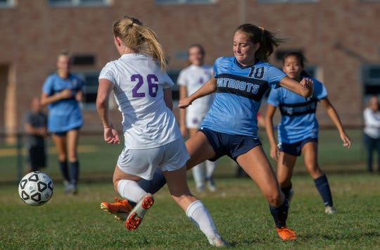 Freehold Township girls soccer vs Rumson-Fair Haven in Freehold Township on 09/11/19.