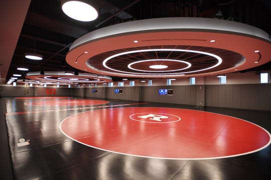 Wrestling practice room at the RWJ Barnabas Athletic Performance Center at Rutgers University in Piscataway on Thursday, September 12, 2019.