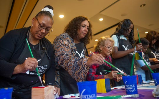 Participants work on their crafts during the Unity Project craft for kindness event at Toms River branch of the Ocean County Library on September 11, 2019.