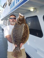 Gary Domanich from Dunellen landed a 9.9-pound fluke on the Norma K III.