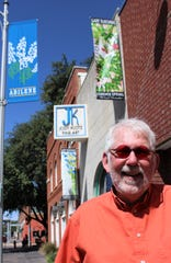 Gary Bukovnik's second stop in Abilene was the downtown gallery, Jody Klotz Fine Art, where his watercolors are on exhibit through December. His first? Perini Ranch Steakhouse, where, he said, the Texas accents were as thick as the cuts of meat. Sept. 12 2019