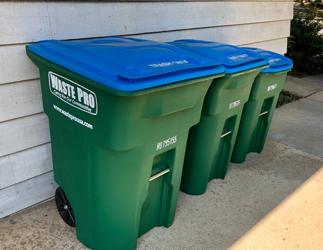 Waste Pro customers in unincorporated areas of Buncombe County started receiving new rolling trash and recycling carts on Monday, Dec. 16, 2019.