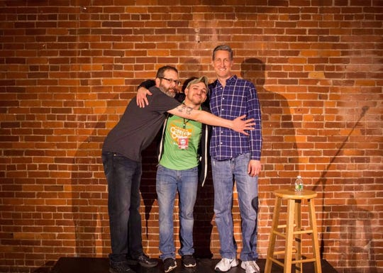 From left: Mike Ciurzynski, Giordi DeAngelo and Bill Lake are the co-founders of the Binghamton Comedy Crawl and The Boho Comedy Club.