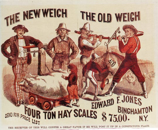 An ad for the Jones Scales Co., makers of all sizes of scales.