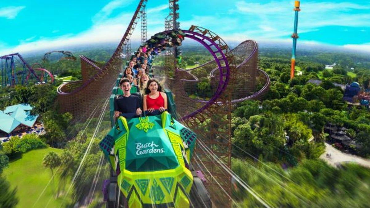 North America S Tallest Fastest Roller Coaster Heads To Busch Gardens