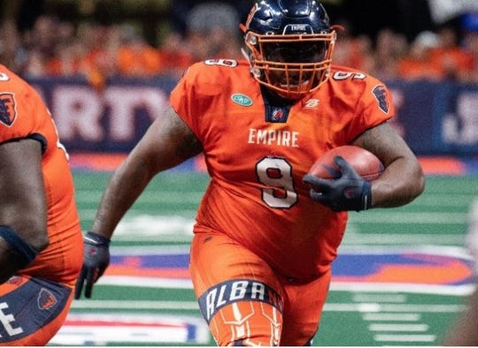Mykel Benson recently played on his second Arena Football championship team, this season with the Albany Empire.