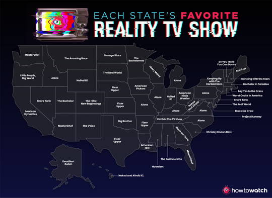 Here are each state's favorite reality TV shows.