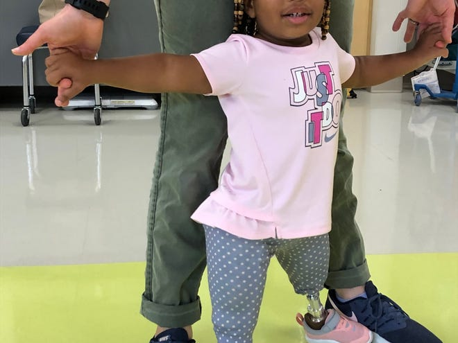 Two-year-old Paisley makes progress in family-friendly rehab environment.