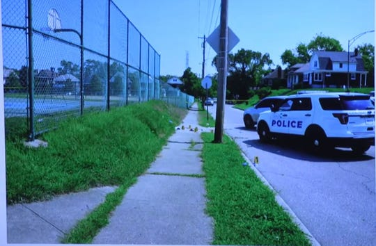 The site of Wednesday's officer-involved shooting in Avondale that left 20-year-old Vernell Jackson critically injured.