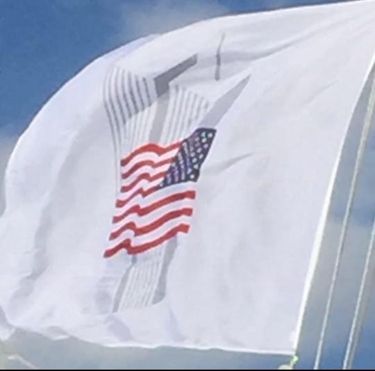 Bob McKee's Port Authority of New York and New Jersey World Trade Center Memorial flag.
