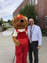 The students at Whitehouse School were greeted by Cubby and Superintendent, Dr. Jonathan Hart.