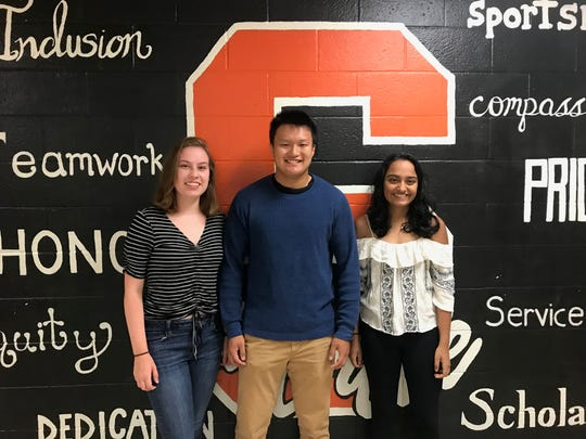 Three Somerville High School students have been named semifinalists in the 2020 National Merit Scholarship program, Katherine Dailey, Jeffrey Pan and Ananya Gandhi.
