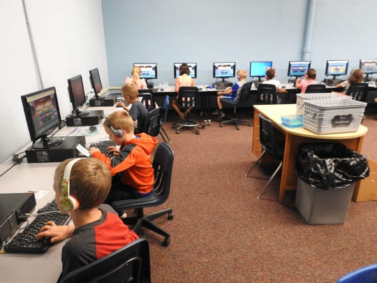 Two computer labs were combined into one to free up more space for classrooms at Warsaw Elementary with the consolidation with Union Elementary.