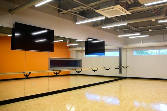 A fitness room is seen in the new Boys and Girls Club at Drake University.
