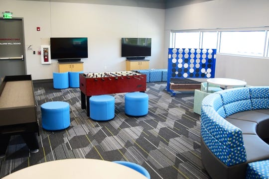 A game room for children K-5 is seen at the new Boys and Girls Club at Drake University.