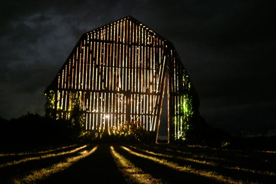 "Catie Newell's ""Secret Sky"" recontextualizes an 100-year-old barn as an art-architecture project in Port Austin near the tip of Michigan's Thumb."