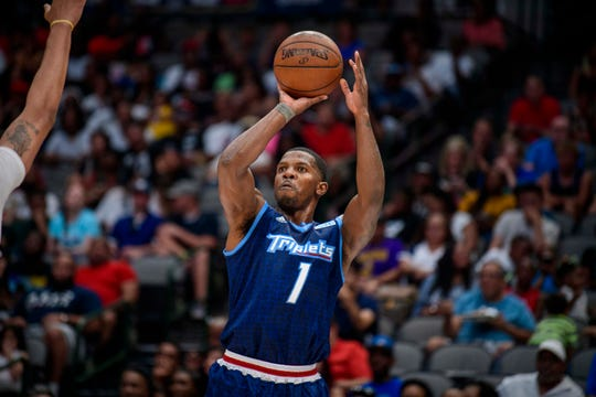 Triplets guard Joe Johnson shoots during the BIG3 game in 2019 in Dallas. The 3-on-3 league will begin its fourth season at FedExForum in Memphis.