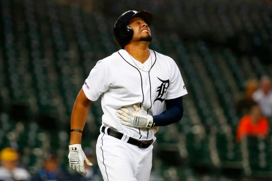 Jeimer Candelario and the Tigers went 47-114 this season, the worst record in baseball.