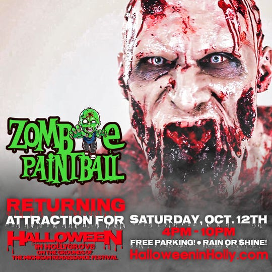 Avoid the paint (and the zombies) while playing Zombie Paintball.