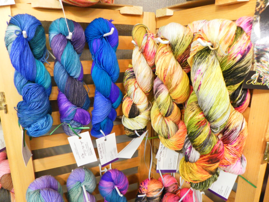 Hanks of wool yarn like these will be available for sale at the Northern Michigan Lamb & Wool Festival in West Branch.