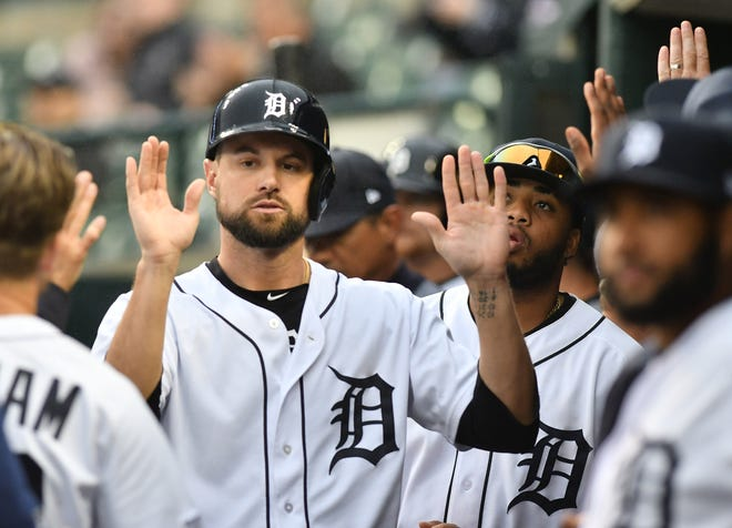Tigers' Jordy Mercer entered play Friday hitting .342 with eight doubles and five home runs since Aug. 3.
