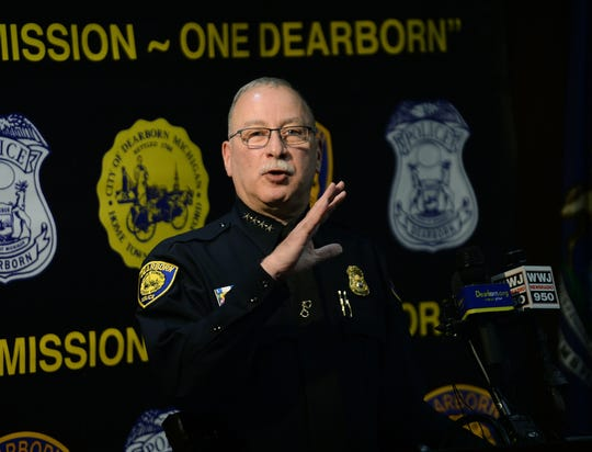 Chief Ronald Haddad answers questions during a press conference announcing arrests in the slaying of Saja Aljanabi on Friday.