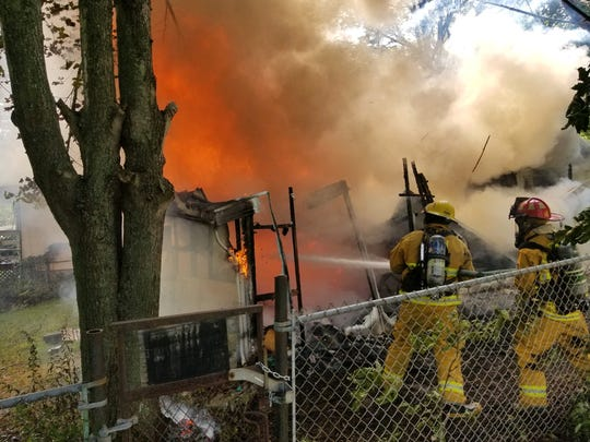A home is a total loss following a structure fire on the afternoon of Sept. 11, 2019.