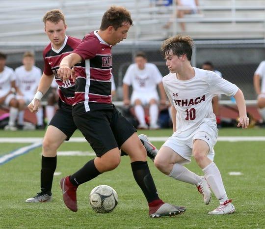 Noah Sperduto leads Elmira past Ithaca in boys soccer