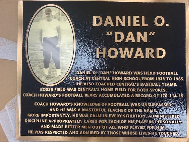 The Dan Howard plaque.
