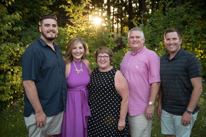 The Goebel Family Foundation, Inc., was started by Tony Goebel, and houses Fish For Kids as well as the program his sister, Theresa Menting, founded, Women's Empowerment Series. Pictured are, from left: Noah Goebel, Theresa (Goebel) Menting, Judy Goebel, Larry Goebel and Tony Goebel.