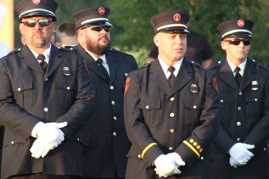 The Village of Gibsonburg held its annual memorial ceremony Wednesday to honor the first responders, military members and civilians who died in the Sept. 11, 2001 terrorist attacks in New York City, Washington D.C. and Pennsylvania.