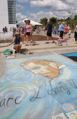 Artist Shelly Heath is one of three professional chalk artists who will be creating works as part of the Chalk the Bay event on Sept. 21 in Sturgeon Bay.