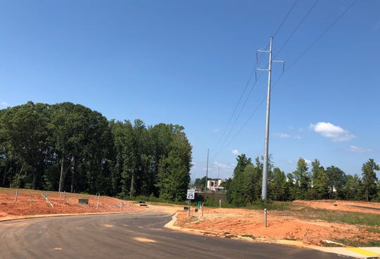 Site work has been done for the proposed  Village West project, going up beside Travelers Rest High Schoolst subdivison