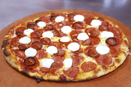 Pepperoni pizza from Kustom Krust.