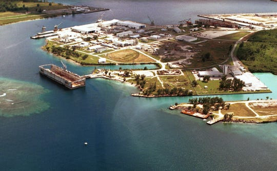 The Guam Shipyard is seen in this file photo.