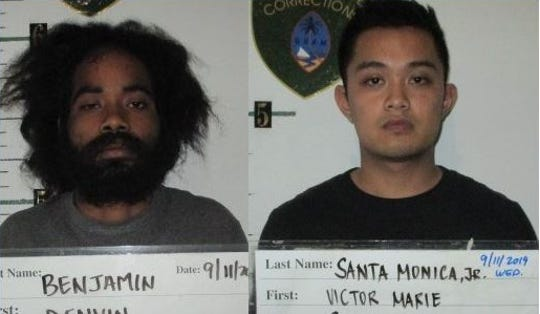 Combined mugs of Denvin Benjamin and Victor Marie Sacro Santa Monica.