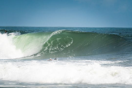 One of the waves at Miyazaki, Japan, which is host of the 2019 ISA World Surfing Games. Guam's Jared Gogue made remarkable runs and finished in firstout of the four in his first repechage heat Sept. 12 before falling short later in the competition.