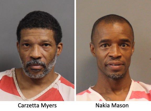 Carzetta Myers, left, and Nakia Mason
