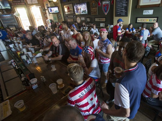 This 2014 photo shows soccer fans gathered at Downtown's Chatham Tap during men's World Cup competition.