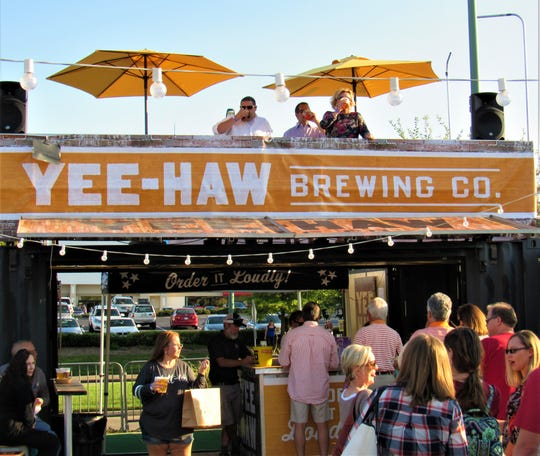 Guests enjoyed the Yee-Haw Brewing Company's two-story pavilion the past two years. They will be back again with an array of their craft beer.