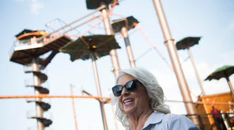 Hear about what it's like to ride Paula Deen's zipline roller coaster in Pigeon Forge, Sept. 12, 2019.