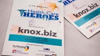 Scenes from the 2019 Knox.biz Health Care Heroes luncheon held at The Foundry in downtown Knoxville