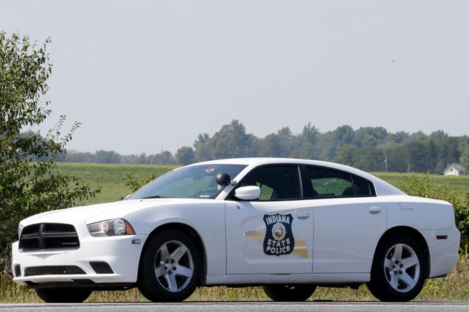 Indiana State Police cruiser on I-65 during a crash investigation, Thursday, Sept. 12, 2019 in Frankfort.